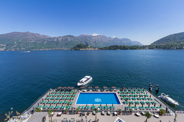 lake como italy travel review Floating pool