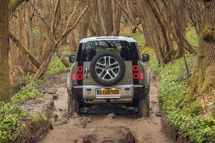 land rover defender 110 car review back