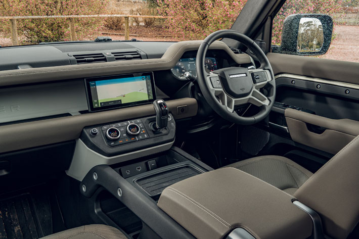 land rover defender 110 car review interior