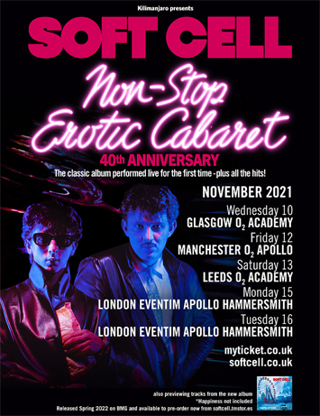marc almond dave ball soft cell interview tour poster