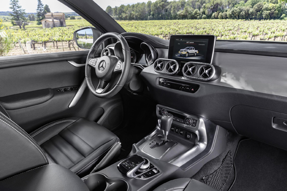 mercedes x-class car review interior