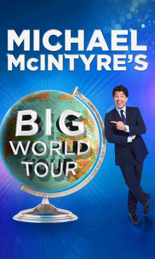 michael mcintyre interview big world tour poster