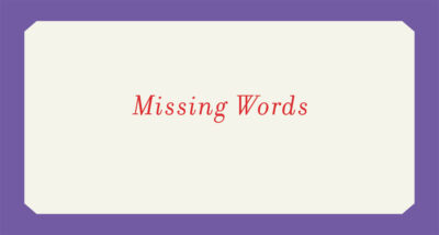 missing words loree westron book review logo