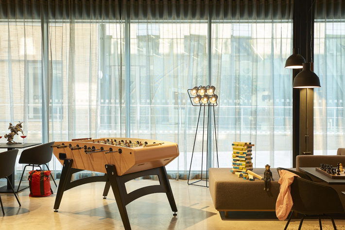 moxy york hotel review games room