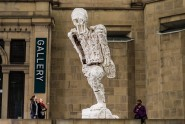 New comission by the Yorkshire Sculpture Triangle for Yorkshire Festival 2014Yet to be titled (Large Walking Figure), 2013, by Thomas Houseago at Leeds Art Gallery