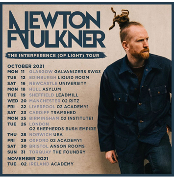 newton faulkner live review holmfirth poster
