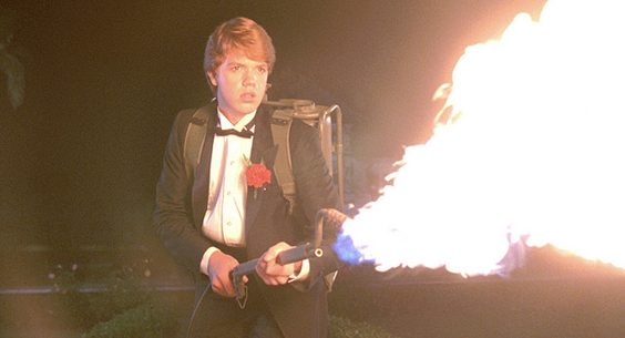 night of the creeps film review dvd bluray flamethrower