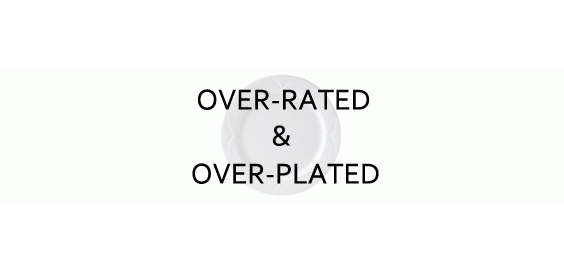 overrated food