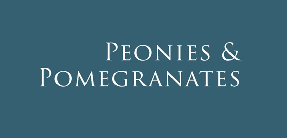 peonies and pomegranates celia fisher book review logo