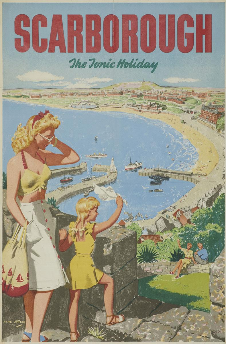 SCARBOROUGH YORKSHIRE POSTER VINTAGE RETRO RAILWAY HOLIDAY ADVERTISING ART