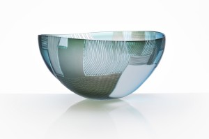 Gillies Jones, Blue Over Grey Pushed Bowl