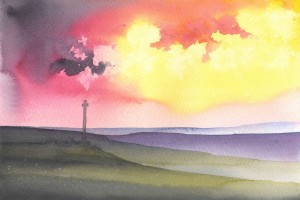Image of the Ralph Cross on the North York Moors – Masham artist Ian Scott Massie