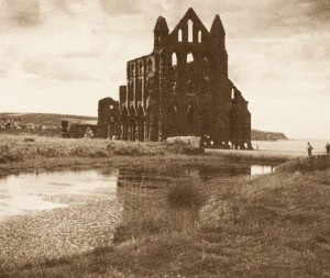 Whitby Abbey, East Front in Autumn