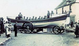 The Bay Lifeboat, the Mary Ann Lockwood in around 1905