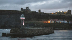 Whitby on a cold winter's day