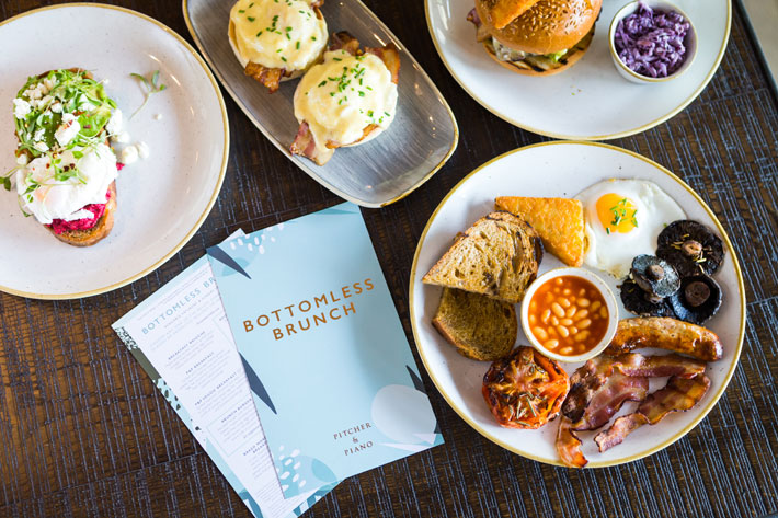 pitcher and piano bottomless brunch restaurant review benedict