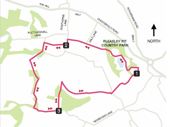 pleasley pit country park walk map