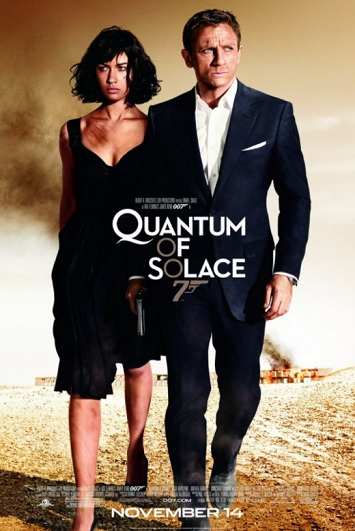 quantum of solace film review poster