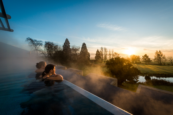 ragdale hall spa review pool view