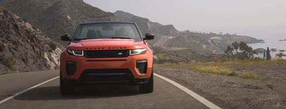 range rover evoque convertible review front