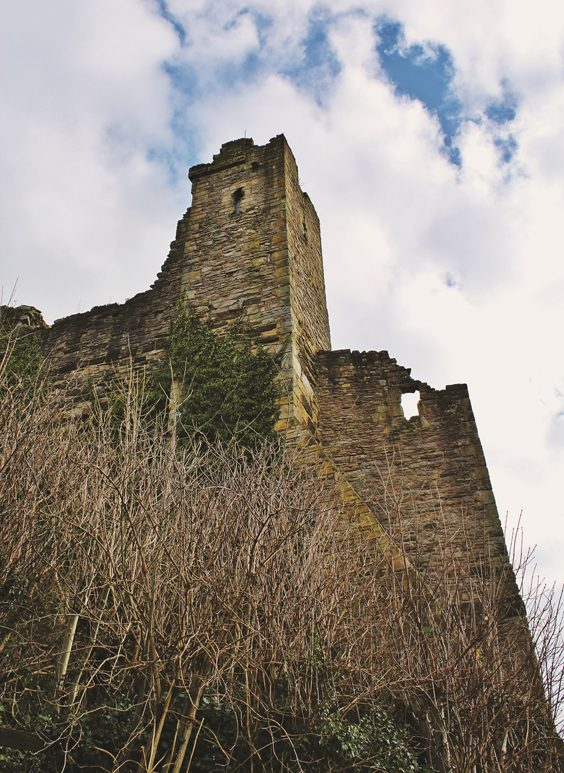 richmond castle history Tower above Castle Wall