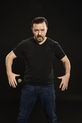 ricky gervais review sheffield city hall 2017 comedian