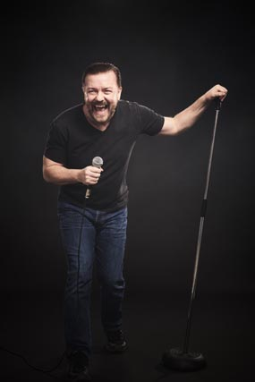 ricky gervais review sheffield city hall 2017 comedy stand up