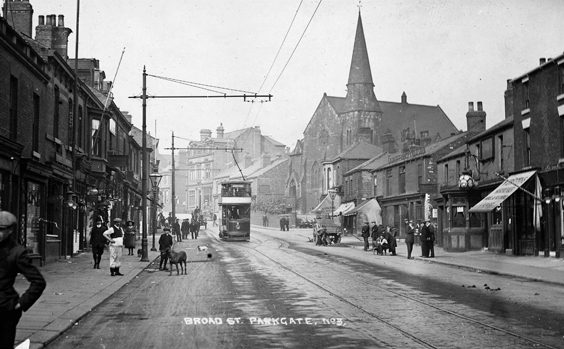 rotherham old photos postcards Broad Street Parkgate