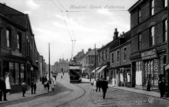 rotherham old photos postcards Masbrough Street