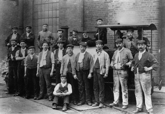 rotherham old photos postcards Workers at Park Gate