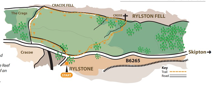 rylstone walk cracoe map