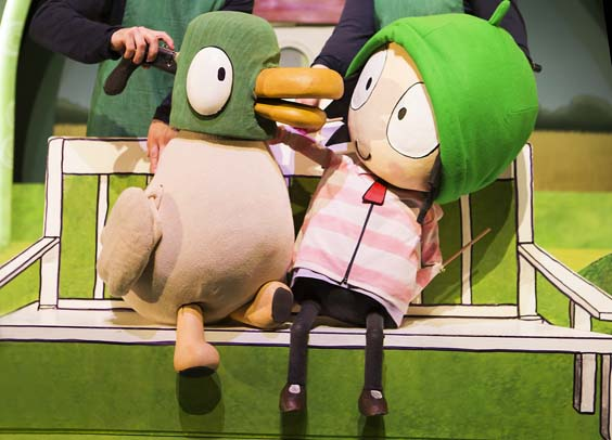 sarah and duck review west yorkshire playhouse stage play