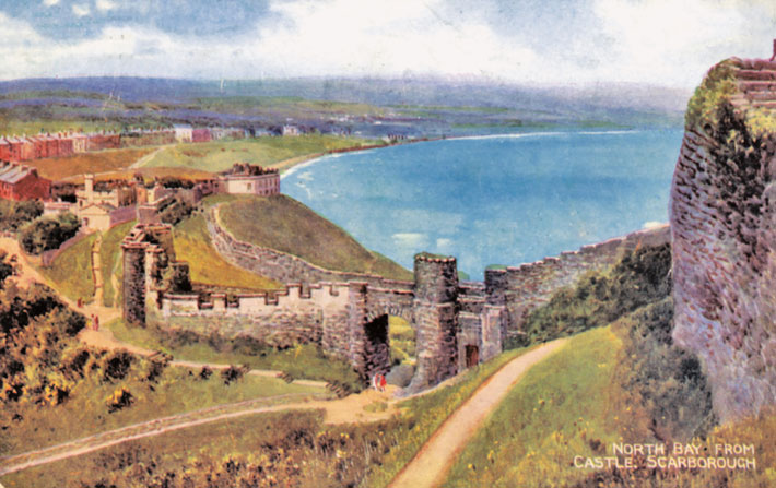 scarborough old photos postcards castle