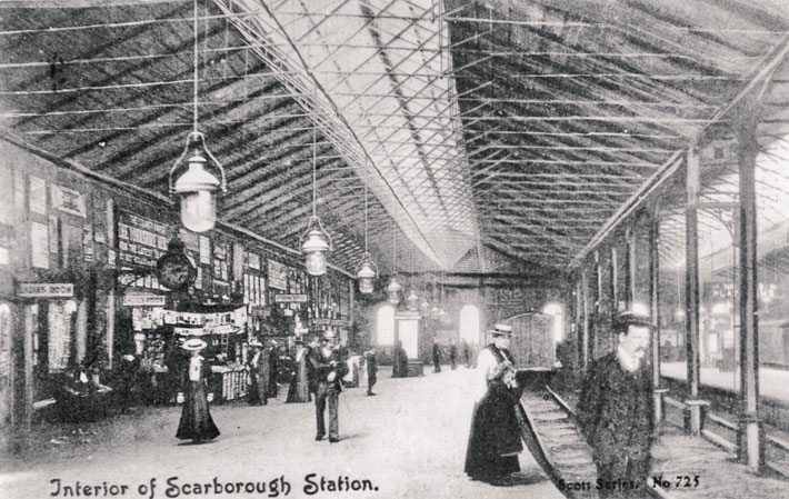 scarborough old photos postcards railway interior