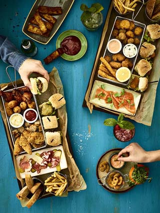 slug and lettuce park row leeds platters