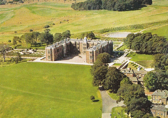 temple newsam house Temple Newsam aerial view 1980s. Postcard unknown photographer