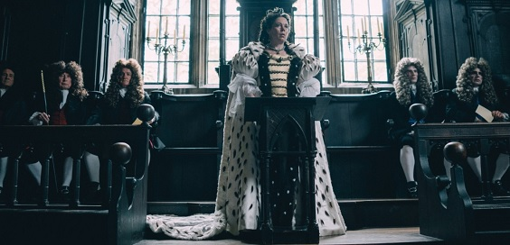 the favourite film review period olivia colman