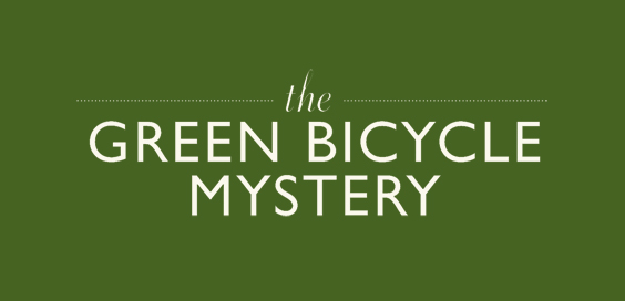 the green bicycle mystery book review logo