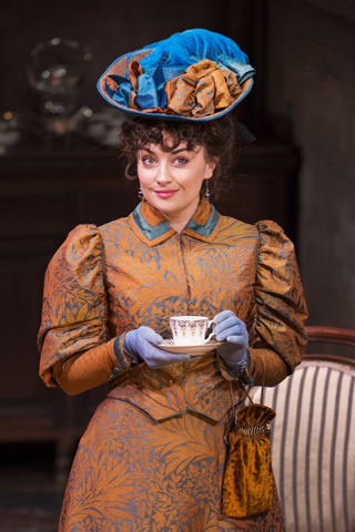 the importance of being earnest review york theatre royal april 2018 Hannah Louise Howell as Gwendolen