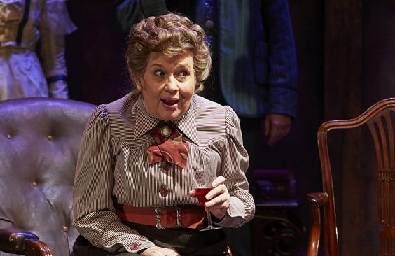 the importance of being earnest review york theatre royal april 2018 Susan Penhaligon as Miss Prism