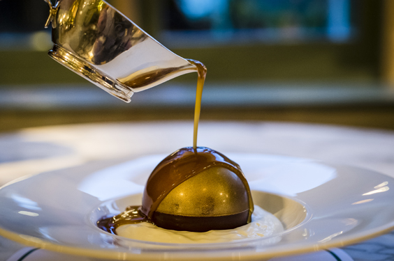 the ivy york restaurant review chocolate bombe
