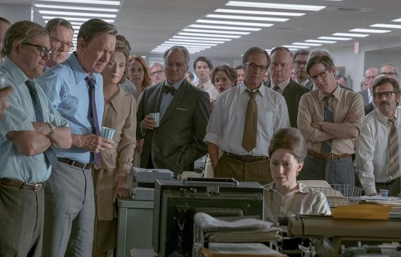 the post film review tom hanks press