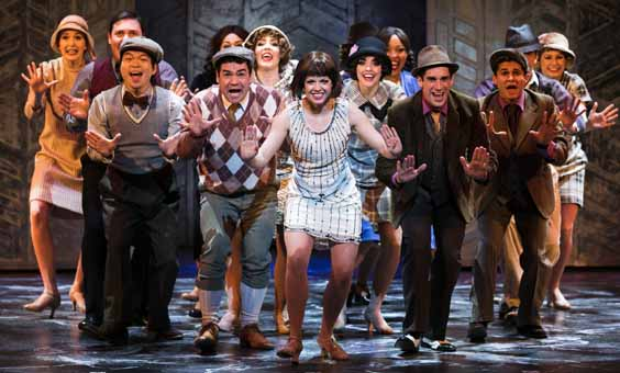 thoroughly modern millie review leeds grand Joanne Clifton as Millie and Company
