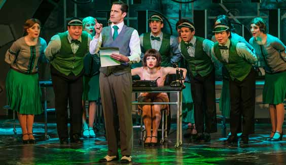 thoroughly modern millie review leeds grand Marios Nicolaides and Joanne Clifton Graham MacDuff as Trevor Graydon, Joanne Clifton as Millie and Company