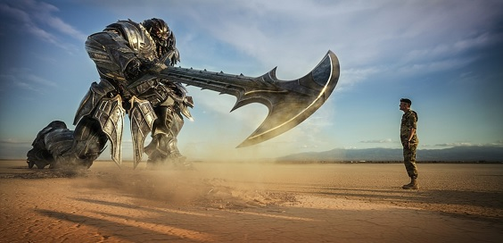 transformers last knight film review axe