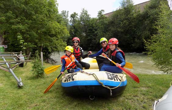 travel review Schladming austria Family rafting down River Enns