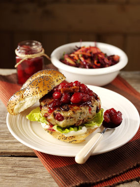 turkey burgers recipe with cranberry