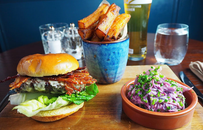 twine and barrel york restaurant review burger