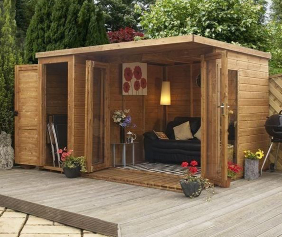 uk wooden summerhouses courtyard wood