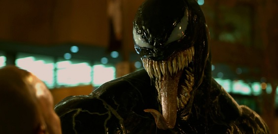venom film review tongue